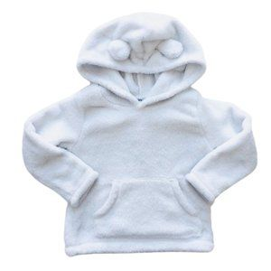 Pale Blue Teddy Bear Fleece Hoodie
